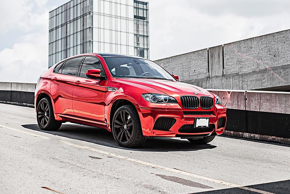 bmw x6m red chrome
