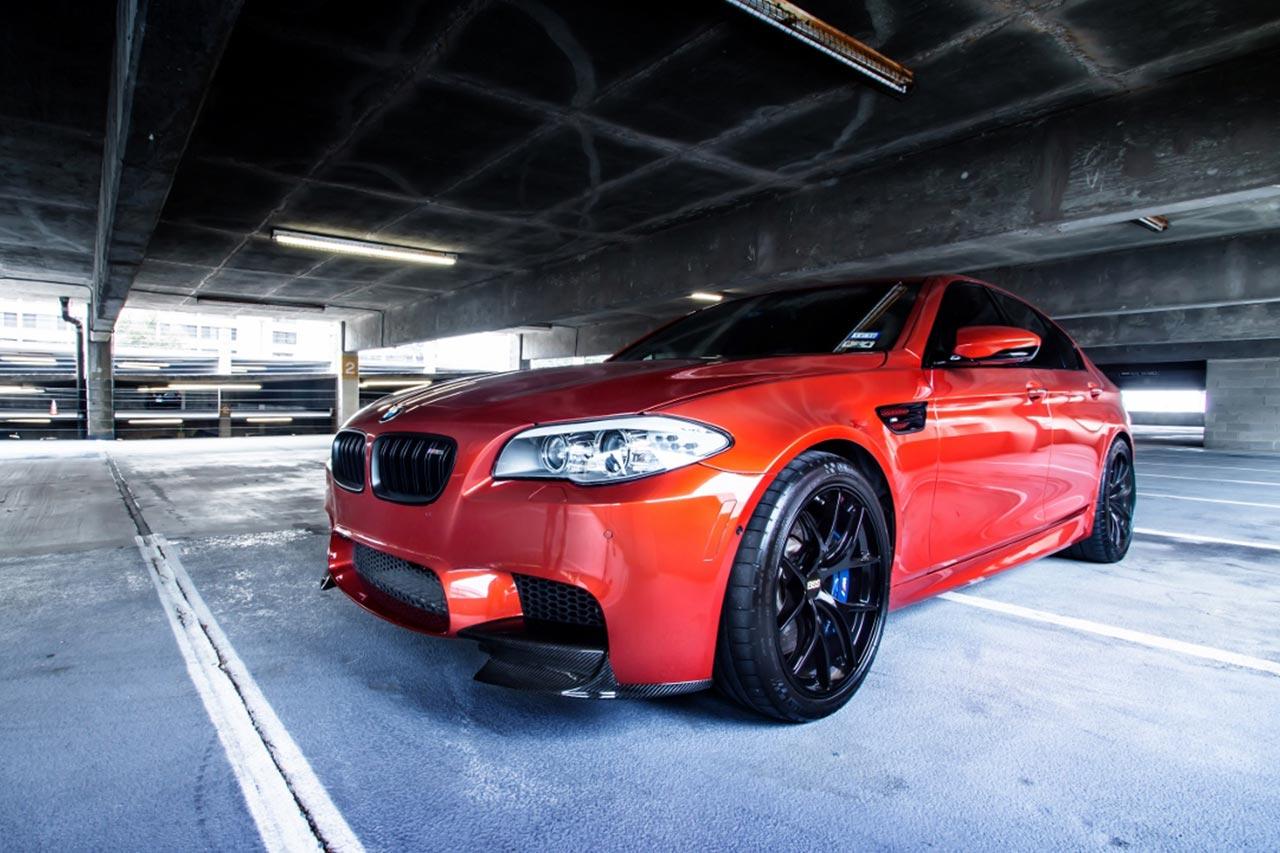 bmw m5 f10 sakhir orange