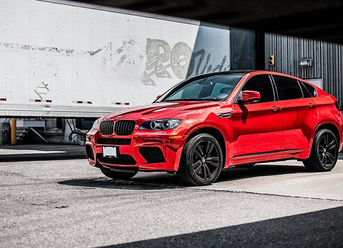 bmw x6m red chrome