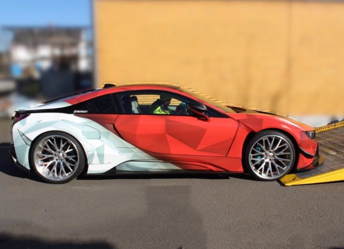 bmw i8 busted